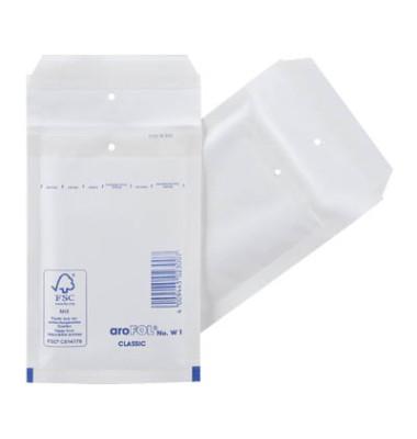 Luftpolstertaschen Classic No. W1, 2FVAF000101, innen 100x165mm, haftklebend + Lochung für Klammer, weiß