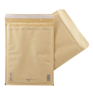 Luftpolstertaschen Classic No. 8, 2FVAF000008, innen 270x360mm, haftklebend + Lochung für Klammer, braun