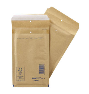 Luftpolstertaschen Classic No.2 A6 braun haftklebend innen: 120x215mm 200 Stück