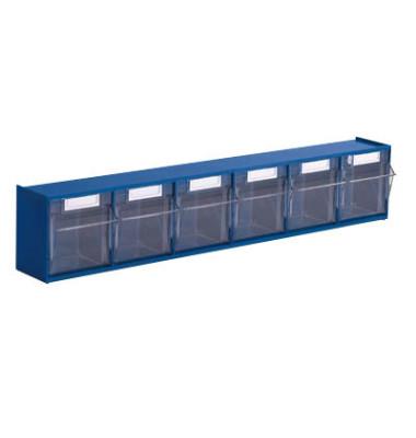 Klappkasten MultiStore 6 Fächer à 80x67x69mm (BxTxH) enzianblau