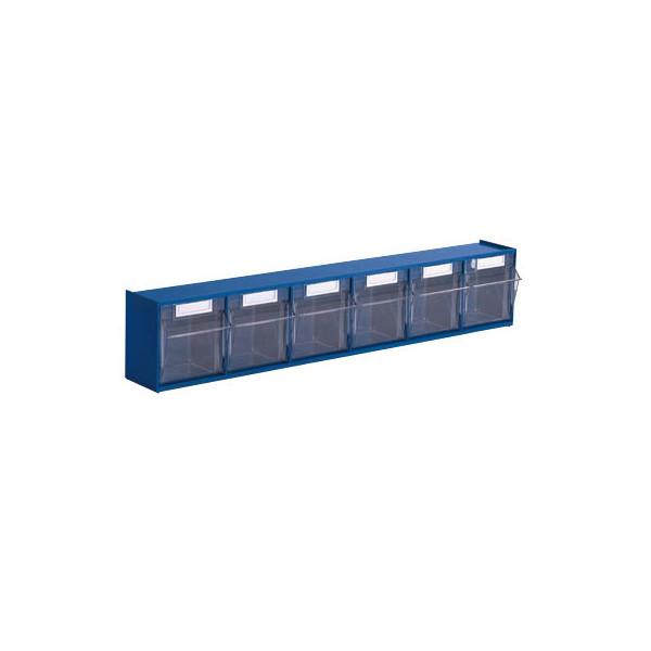 Hünersdorff Klappkasten MultiStore 6 Fächer à 80x67x69mm (BxTxH) enzianblau