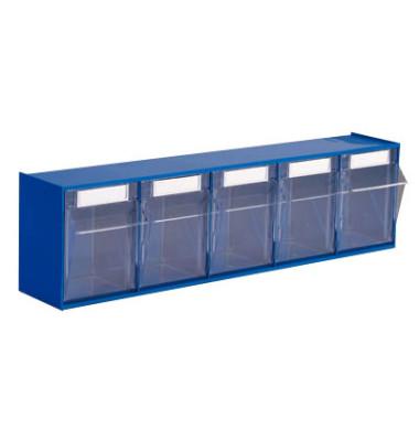 Klappkasten MultiStore 5 Fächer à 95x97x107mm (BxTxH) enzianblau
