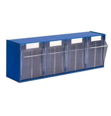 Klappkasten MultiStore 4 Fächer à 125x128x133mm (BxTxH) enzianblau