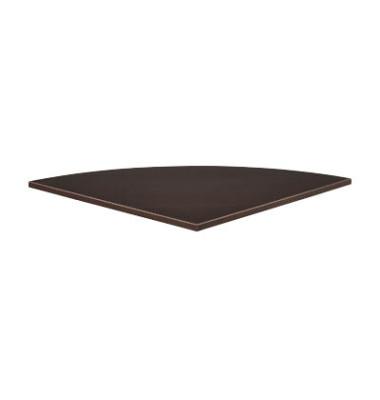 Verkettungsplatte 25-PLAT-80QRW wenge Viertelkreis 80x80 cm (BxT)