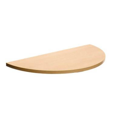 Tischplatte 25-PLAT-80DRPH buche halbrund 80x40 cm (BxT)