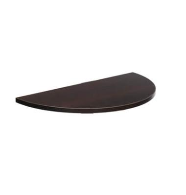 Tischplatte 25-PLAT-80DRPW wenge halbrund 80x40 cm (BxT)