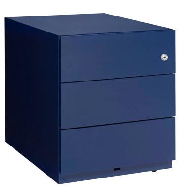 Rollcontainer Note NWA59M7SSS839 Metall oxfordblau, 3 normale Schubladen, abschließbar
