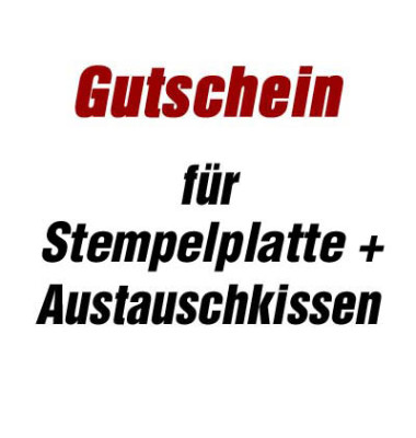 Gutschein für Stempelsatz + Austauschkissen für Stempel printy 4913 ohne Logo