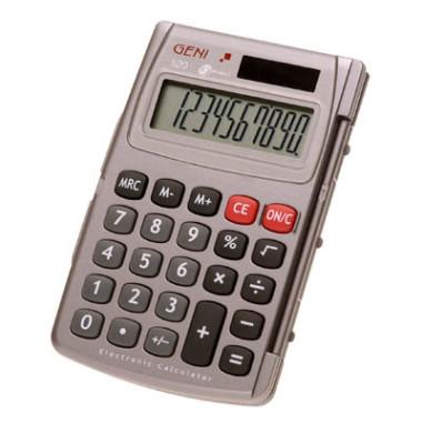 Taschenrechner 520 Solar-/Batterie LCD-Display silber 1-zeilig 10-stellig