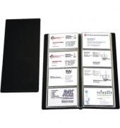 Visitenkartenalbum f.96 Karten schwarz 12x25,5cm