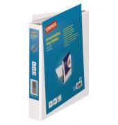 Präsentations-Ringbuch A4+ 4Ri 3 Taschen weiß 30mm Durchm. D-Ring