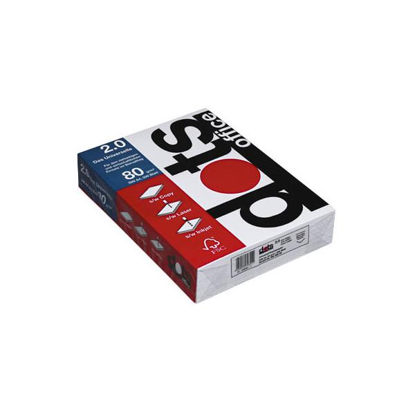 dots office 2 0 a4 80g kopierpapier wei 500 blatt. Black Bedroom Furniture Sets. Home Design Ideas