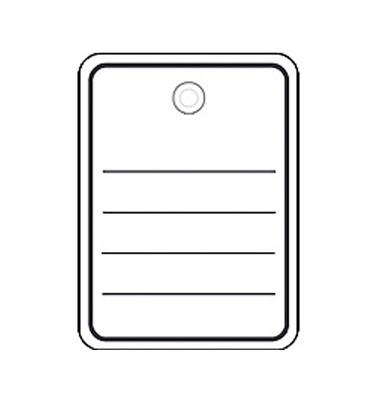 Stückwarenanhänger/6841 48 x 65 mm 1000 Öse / Faden