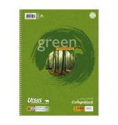 Collegeblock Green A4 weiß kariert 80 Blatt