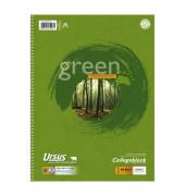 Collegeblock green 608570020, A4 kariert, 70g 80 Blatt, 4-fach-Lochung