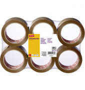 Packband PVC ger.arm braun 50mm x 66m 6 Rollen
