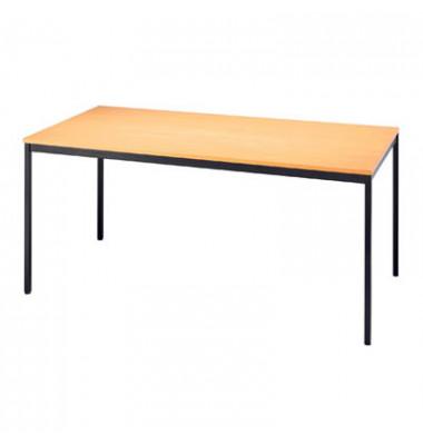 160x80 Schreibtisch Höhe 75cm anthrazit grau Bürotisch Arbeitstisch modern