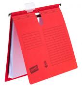 Hängehefter A4 230g Karton rot kaufmännische Heftung 10 Stück