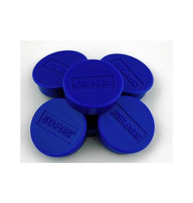 Haftmagnet rund f.4 Bl.A4 80g blau D:10mm 10 St