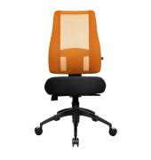Bürodrehstuhl Lady Sitness Deluxe ohne Armlehnen orange
