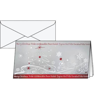 Weihnachtskarten Winter Breeze Din Lang 10 Stück inkl. weißen Umschlägen DS393