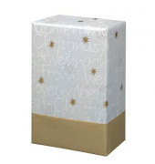 Geschenkpapier Wünsche 50cm x 20m weiß/gold