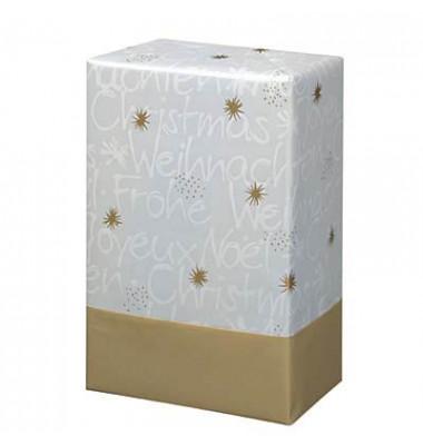 Geschenkpapier Wünsche weiß/gold 50cm x 20m
