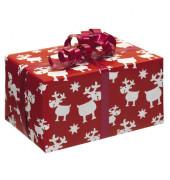 Geschenkpapier Blögg Rentiere rot 50cm x 20m