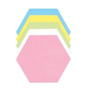 Moderationskarten Wabe farbig sortiert 18,5x16,2cm 500 Stück