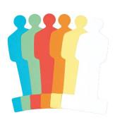 Moderationskarten People 19,5x9,5cm 120 Stück