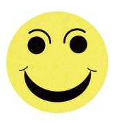 Moderationskarte Bewertungssymbole positiv gelb Ø 10cm 100 Stück