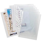 Prospekthüllen A4 transparent genarbt 60my oben offen 100 Stück