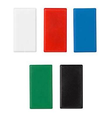 Magnete rechteckig farbsortiert 2,8 x 5,5 cm