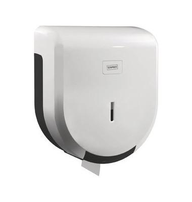 Toilettenpapierspender Jumbo weiß 25x28x12cm 200m