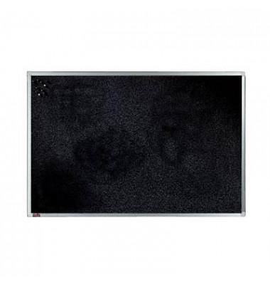 Pinnwand, 90x60cm, Textil, Aluminiumrahmen, schwarz