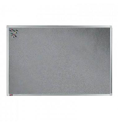 Pinnwand, 90x60cm, Textil, Aluminiumrahmen, grau