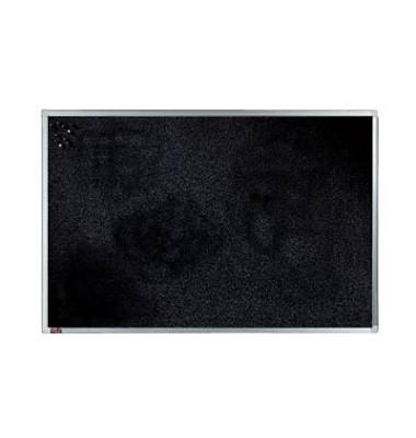 Pinnwand, 120x90cm, Textil, Aluminiumrahmen, schwarz