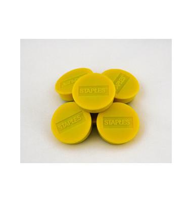 Haftmagnet rund f.15 Bl.A4 80g gelb D:35mm 10 St