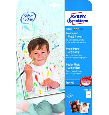 Classic Inkjet PhotoPapier A4 160g 20Bl/2568-20 DIN A4 20  glänzend 160 g/qm