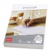 Briefumschläge Prestige C6 ohne Fenster mit Wasserzeichen haftklebend 100g weiß 25 Stück
