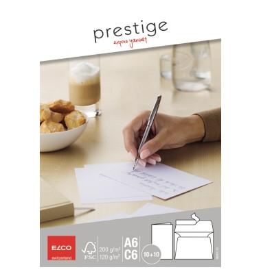 Doppelkarten Prestige C6/89301.10 C6 Karte 10 Doppelkarte 200 g/qm