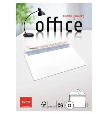 Briefumschläge Office C6 ohne Fenster haftklebend 80g weiß 25 Stück