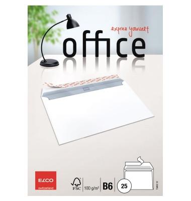 Briefumschläge B6 ohne Fenster haftklebend 100g weiß 25 Stück