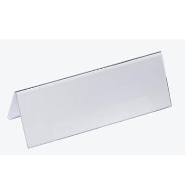 Tischnamensschild 297x105mm transparent 10 Stück