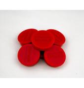 Haftmagnet rund f.4 Bl.A4 80g rot D:10mm 10 St
