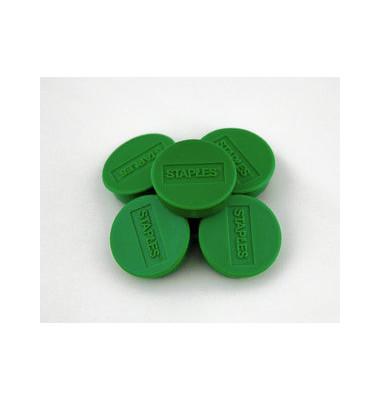 Haftmagnet rund f.15 Bl.A4 80g grün D:35mm 10 St