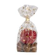 Zellglasbeutel transparent goldener Weihnachtsdruck 23,5 x 14,5cm 10 Stück
