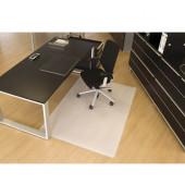 Bodenschutzmatte 120 x 200 cm Form O für Hartböden transparent PP