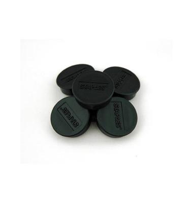 Haftmagnet rund f.15 Bl.A4 80g schwarz D:35mm 10 St