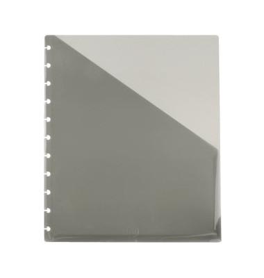 ARC A4 Prospekthüllen rechts offen rauchgrau 80my 2 Stück